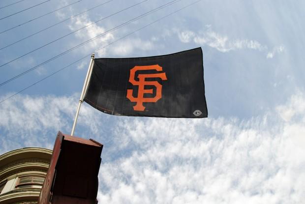 Image shows an SF Giants Flag