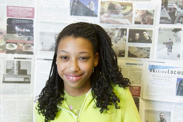 8th grade student Xsenia Bullock-Watts.