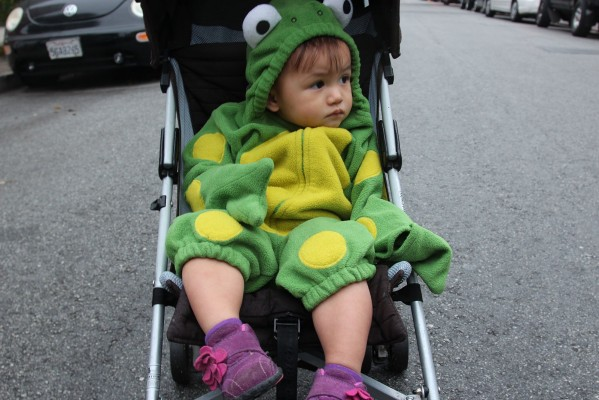 Even the very young were out enjoying Halloween. Photo by Alejandro B. Rosas
