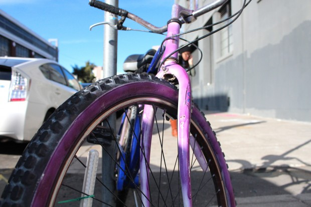 Purple cruiser outside The Coffee Bar.