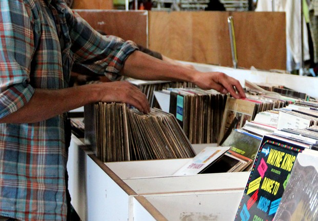 Record shopping on Sunday afternoon at Community Thrift.