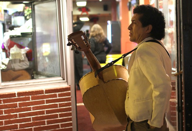 A mariachi in the Mission.