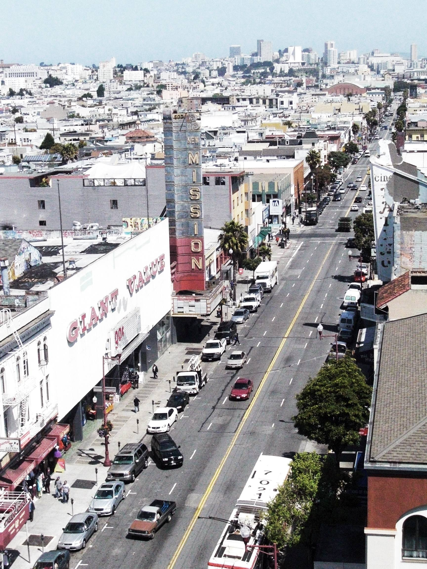 Mission Street looking north from 22nd Street, Mission District, San Francisco. Photo by Telstar Logistics/Flickr
