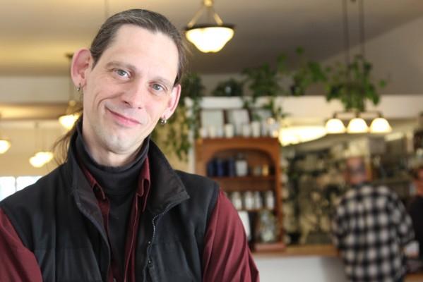 Alan Beatts, owner of Borderlands Books and neighboring Borderlands Cafe.