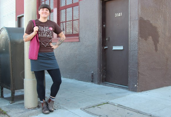 Annie Michelshon spotted on 17th and Folsom streets. Photo by Yousur Alhlou.