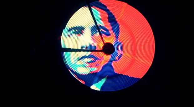 A still from the video.