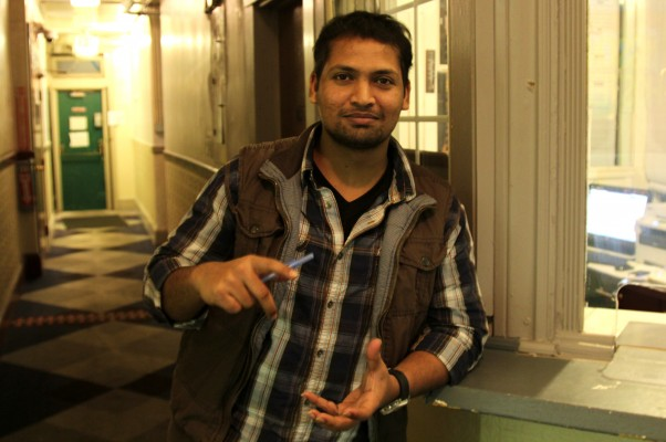 Front desk manager, Ahmed Mohammed at El Capitan's front desk.