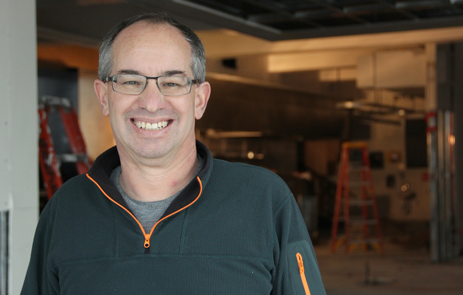 Chuck Siegel, owner of Charles Chocolates in his future retail space at 535 Florida Street.