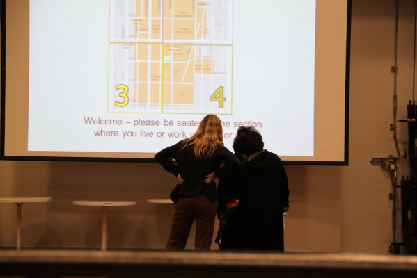 The SFMTA had attendees sit in their respective quadrants of residence.