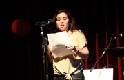 Image Shows Dyanna Loeb reading her story