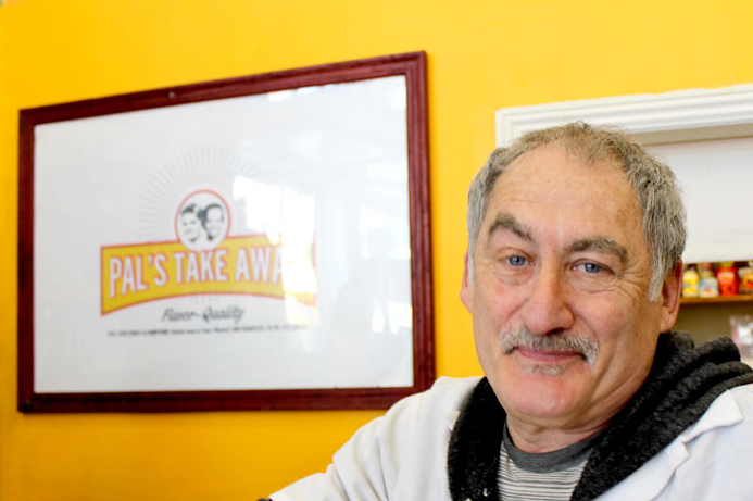Pal's Take Away owner and chef Jeff Mason hopes to keep his sandwich shop in the Mission with your help. Photo courtesy of The Bold Italic.