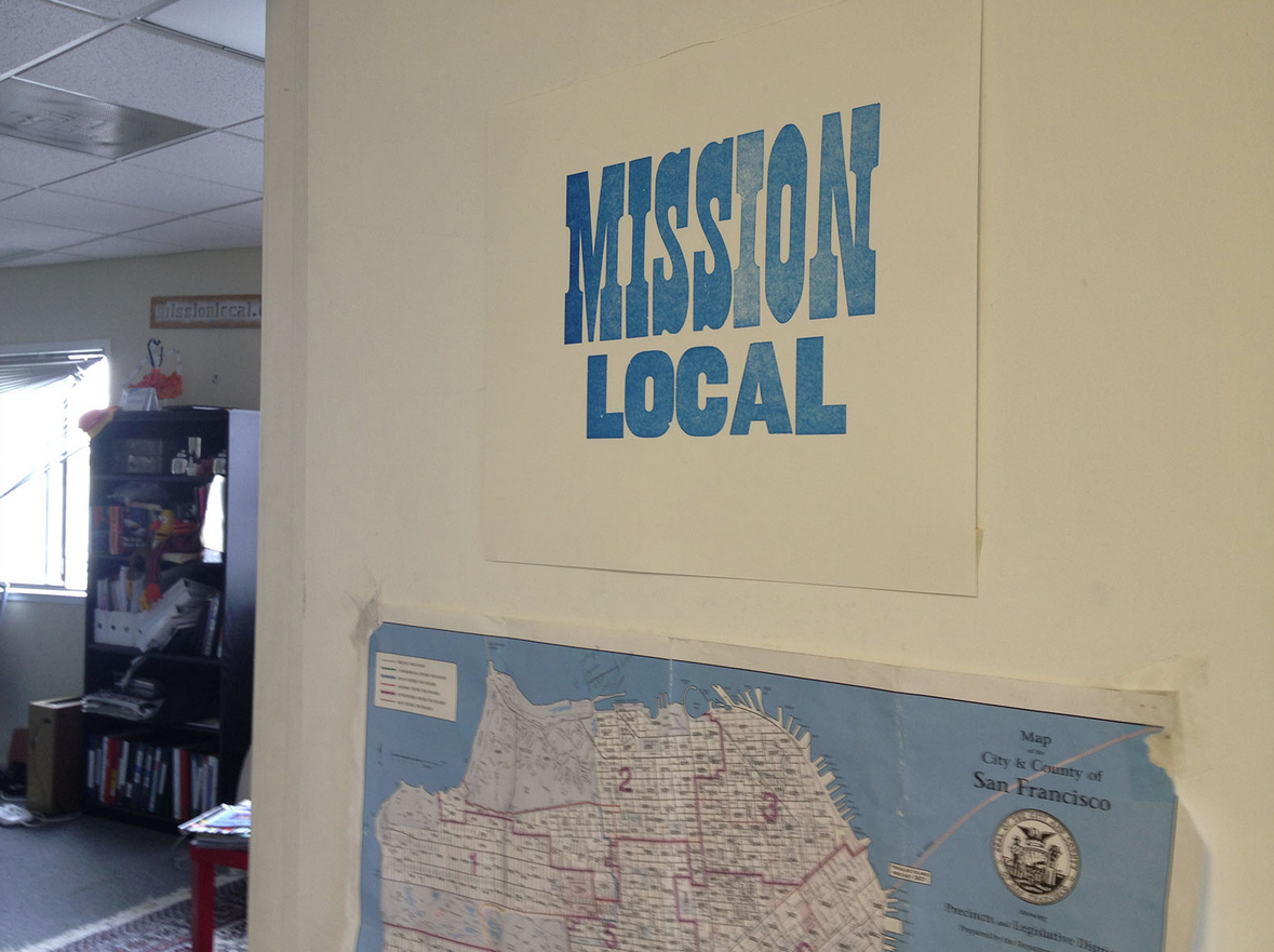 The Mission Local newsroom