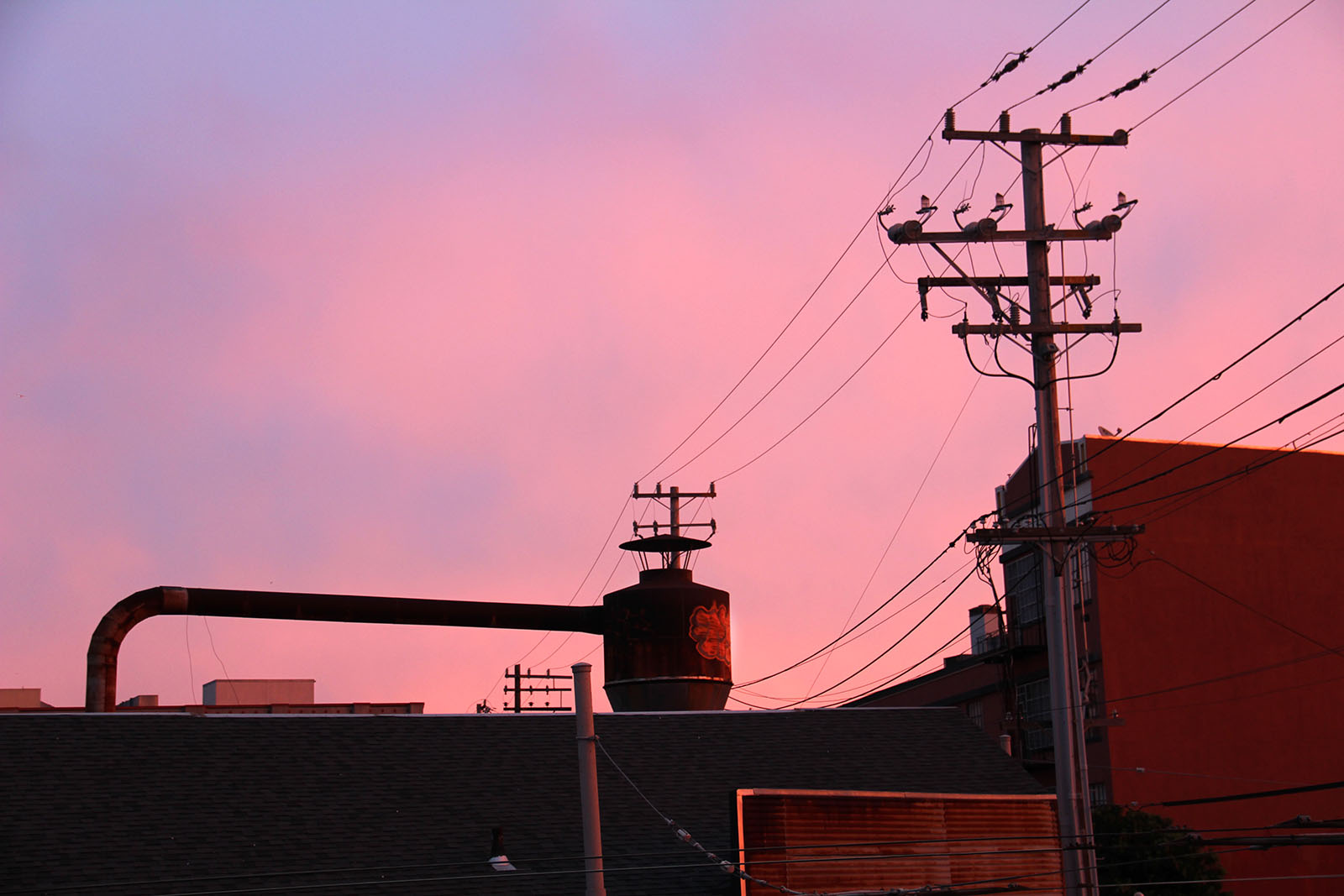 A glowing sunrise in the Mission.