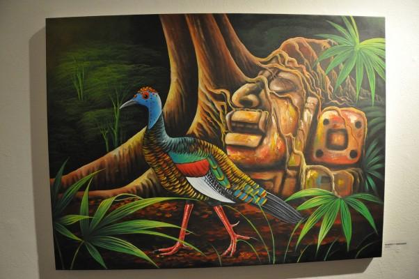 A variety of historical Maya artwork was displayed at the gallery. Photo by Alejandro Rosas.