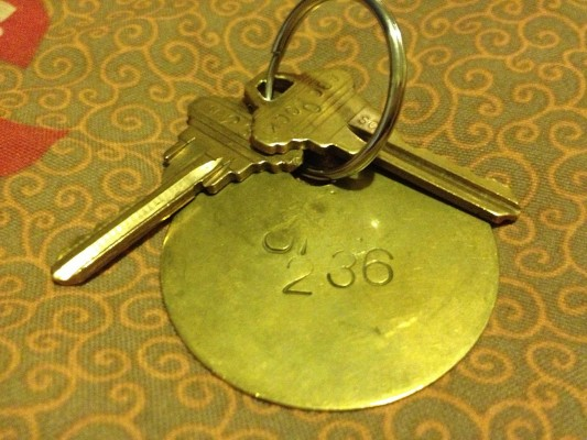 A set of keys to a room at El Capitan. Photo by Carly Nairn.