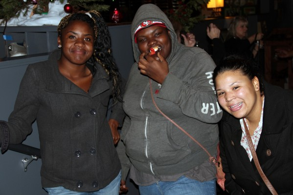 Teenagers from youth and family services of Vallejo pose at Mission Bowling Club.