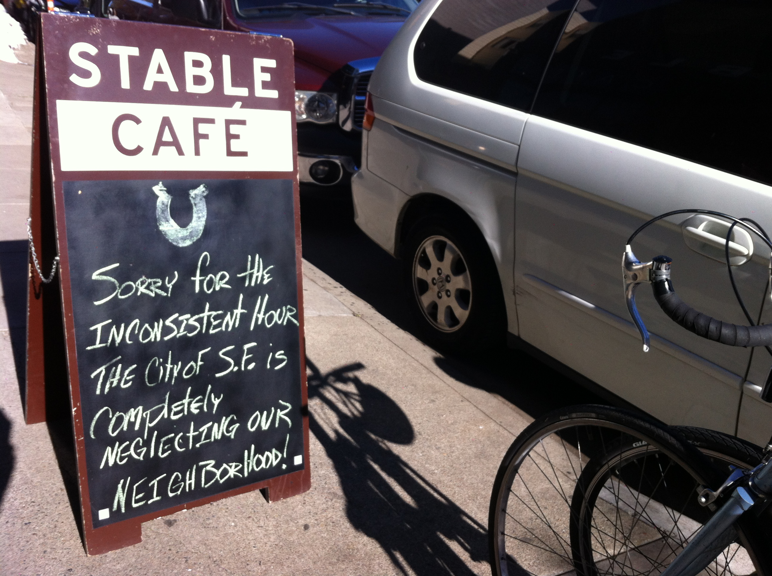 Stable Café Forced to Keep Irregular Hours Due to Repairs