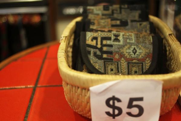 Purse at Shoe Biz for five dollars.