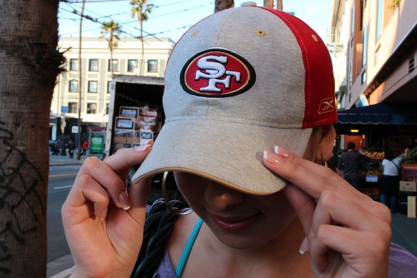 """Celinda Juarez says this is the 49ers' comeback year after they fell in the NFC Championship game last season. """"We're faithful to our Niners,"""" she says as she walks down Mission Street near 16th Street."""