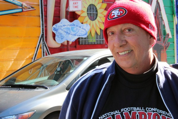 Fred Gutierrez has been a 49ers fan for 50 years. He remembers going to 49ers games at Kezar Stadium when he was 12 years old. He plans to buy a case of candles at St. Dominic's and light one for the 49ers before the big game.
