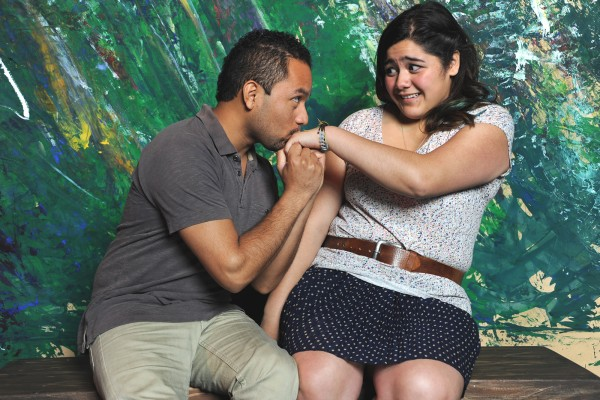 """J. Adan Ruiz and Angelina Orellana will act in """"In and Out of Shadows."""" Photo Katia Fuentes/Courtesy of The Marsh Theater."""