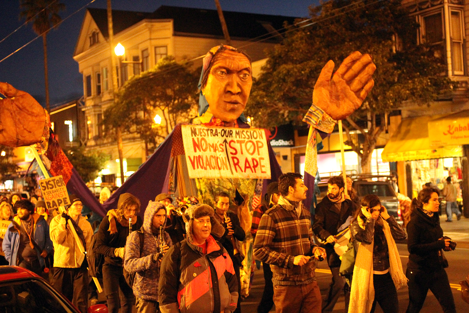 Mission Residents Protest Violence Against Women