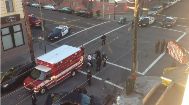 A two-car crash at 21st St. and South Van Ness Ave. on Jan. 1 left two people dead.