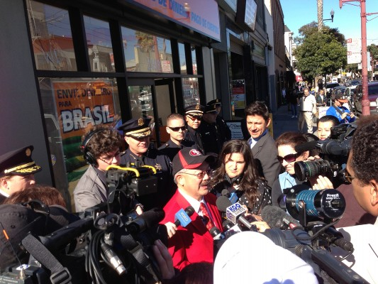 Mayor Ed Lee on Mission Street. Photo by Andrew Curtis.