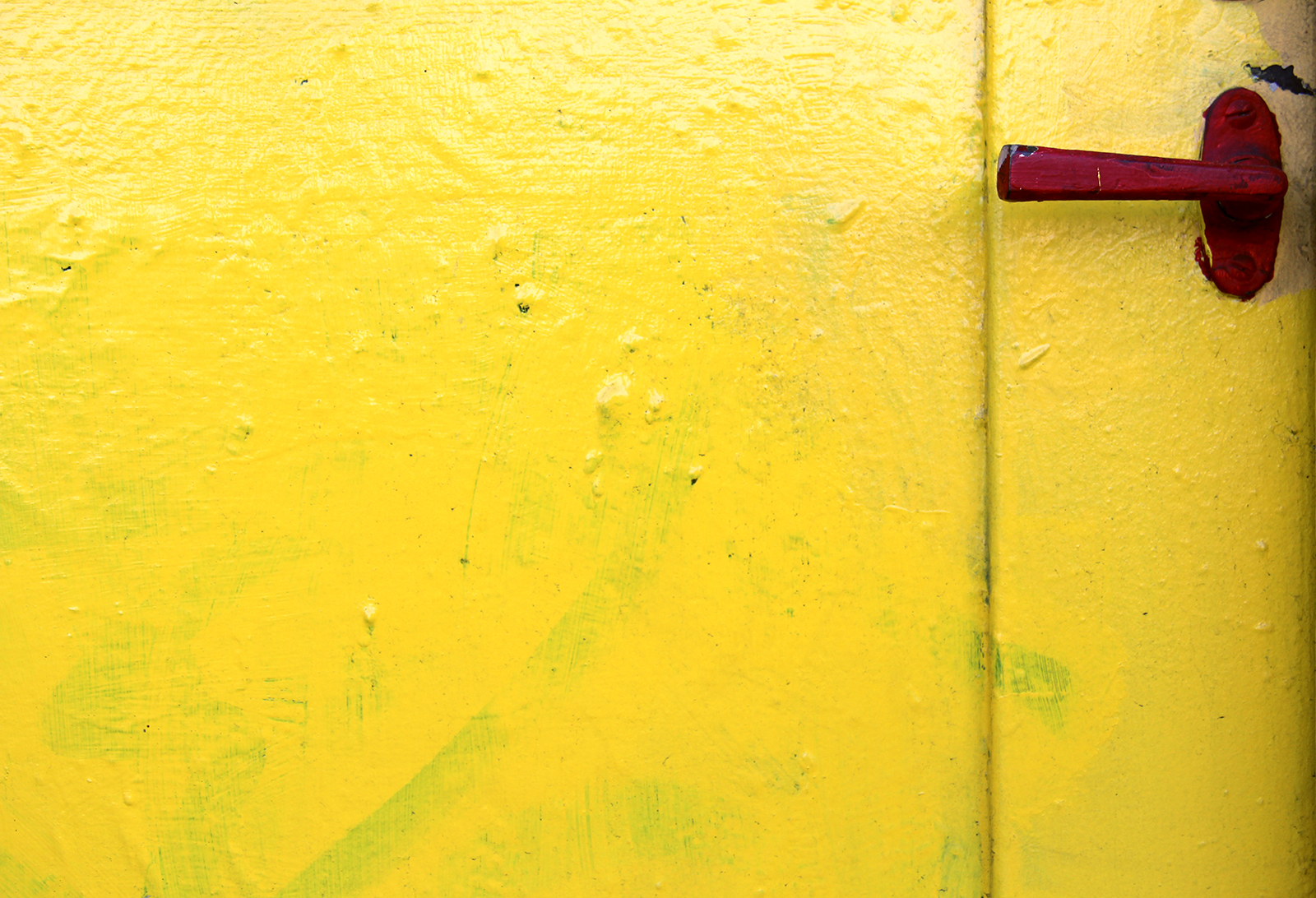A bright door on Bryant Street catches wandering eyes.