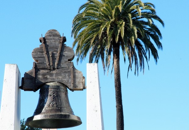 A tree and a bell at Dolores Park.