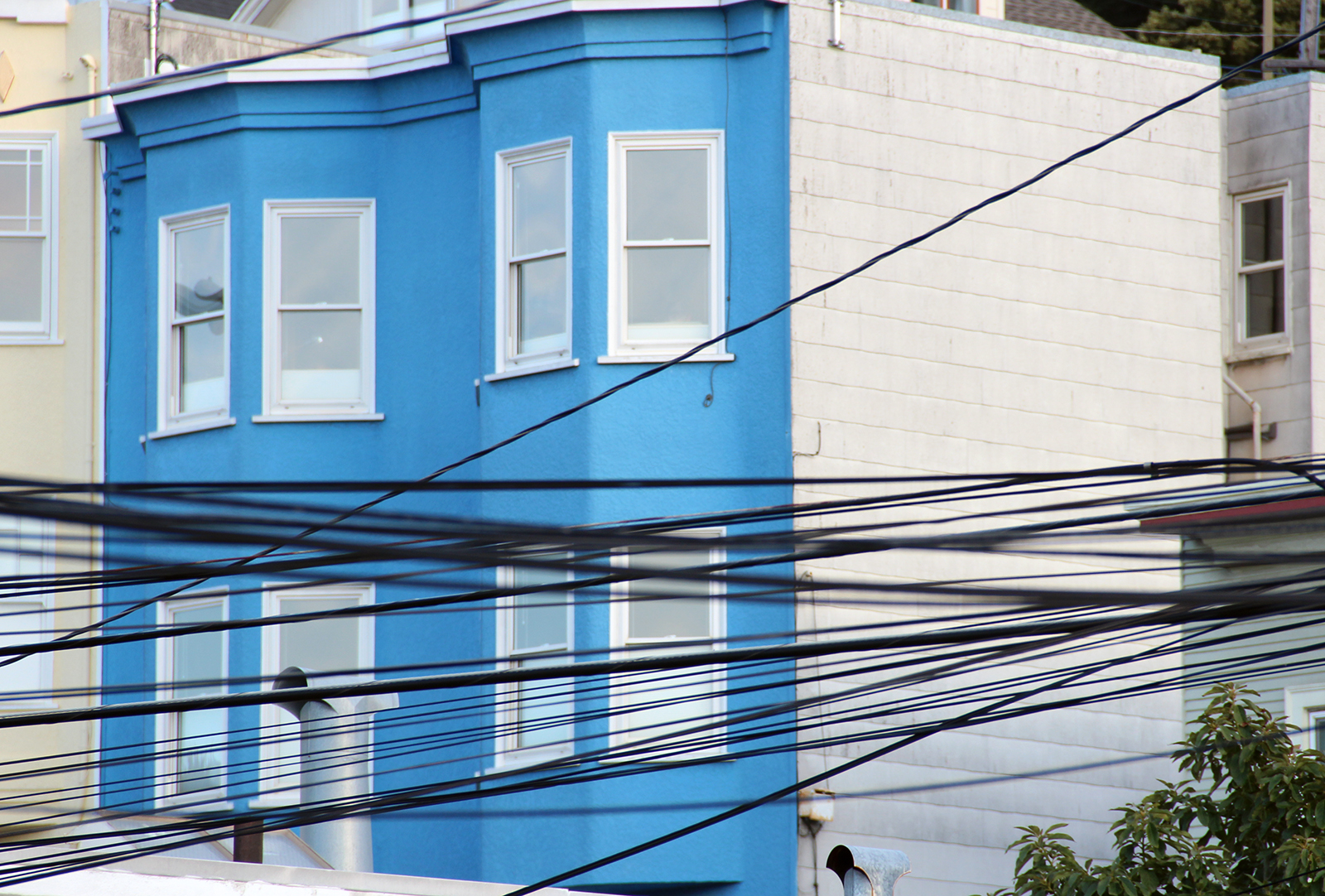 Telephone wires on Folsom Street.