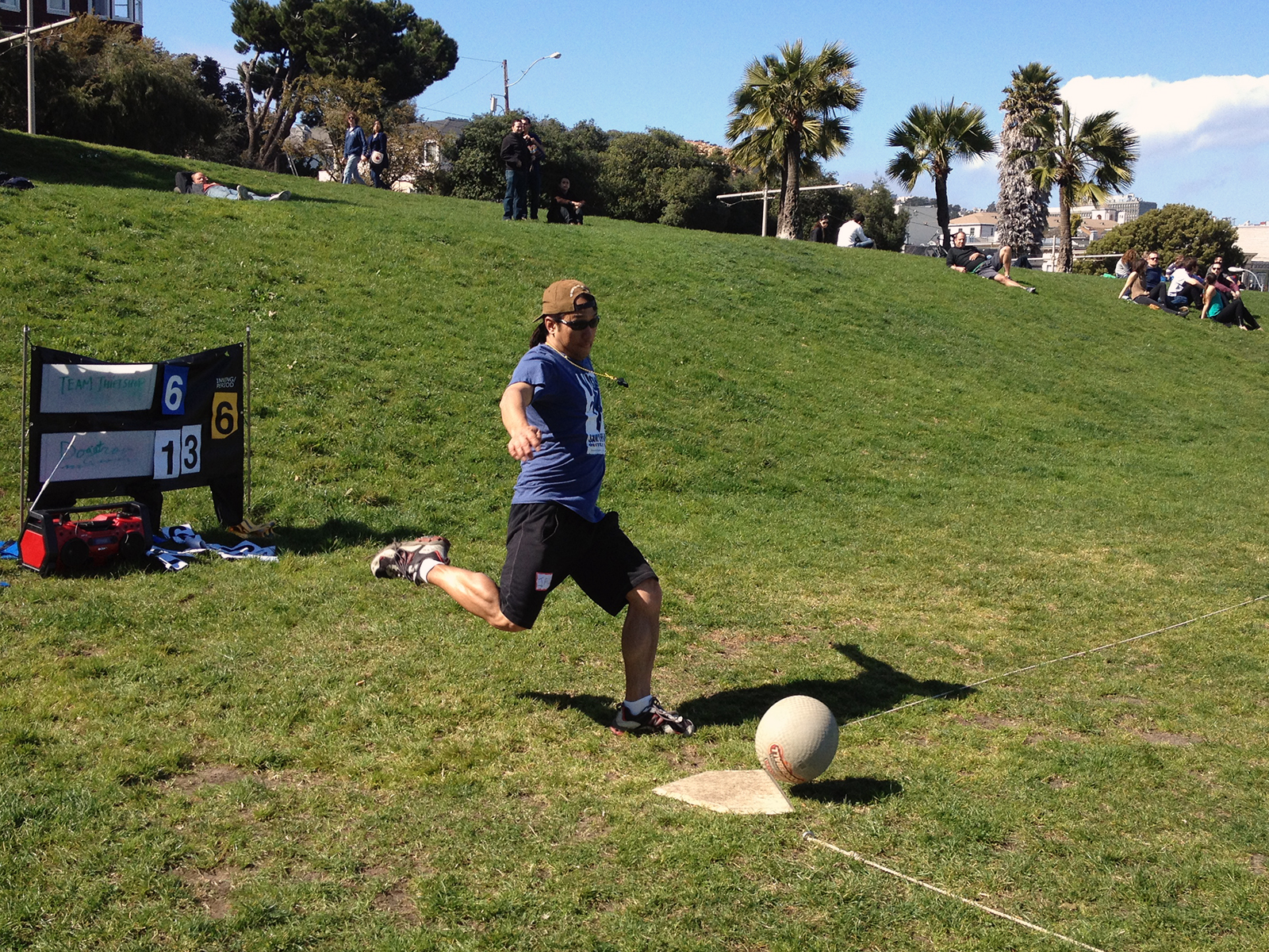 Kickballers try to boot denizens out of SF's Dolores Park; hilarity ensues