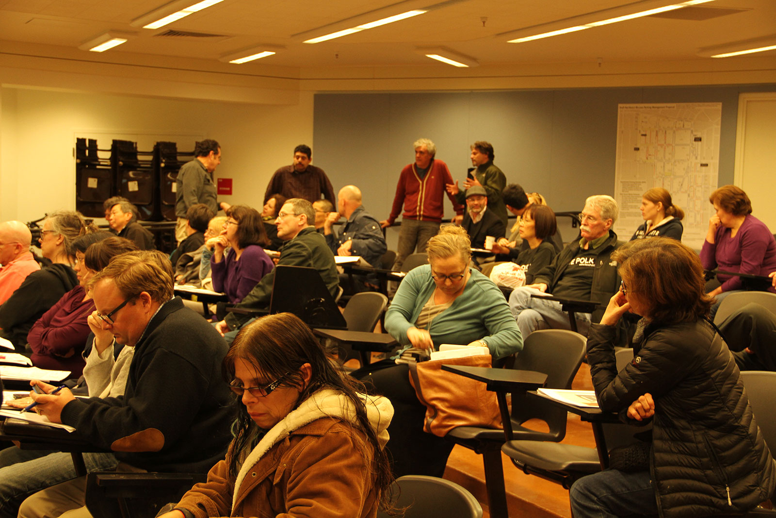Public meeting at John O'Connell High School, March 21, 2013. Photo by Tay Wiles