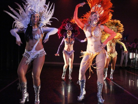 The show ends with a spectacular Carnaval-themed finale. Photo by Erica Hellerstein.