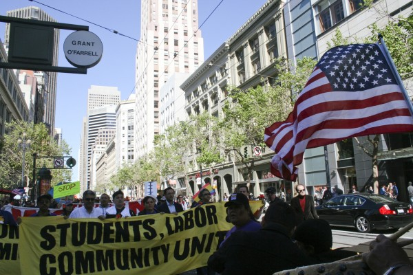 March for immigration reform in San Francisco, April 10, 2013. Photo by Francisco Barradas.