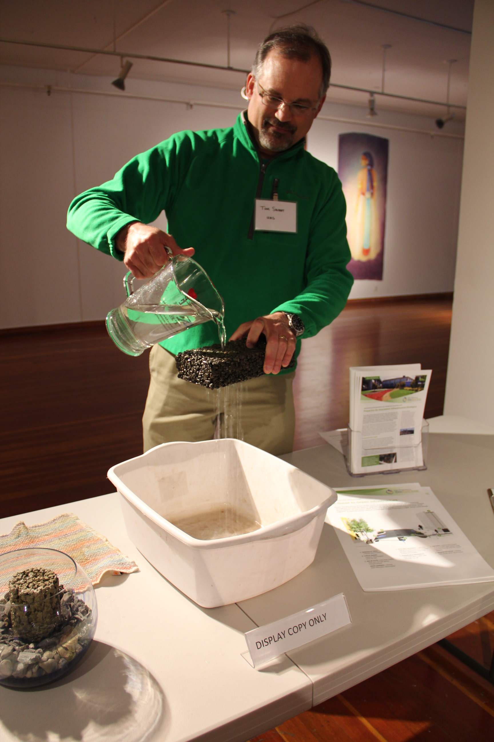 Live demonstrations of green technologies took center stage at last weekend's gathering.