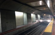 File photo: A BART train approaches the 24th and Mission Station.