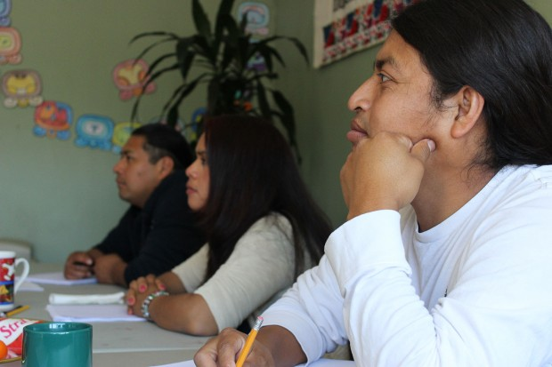 The class at Asociation Mayab in the Mission is a mix of different ages and cultural backgrounds. On a recent Saturday, two Mission Local reporters stopped by the Asociacion Mayab to see the class. Photo by Laia Gordi.