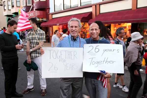 Steven Olsen and Ken Richard of Walnut Creek celebrated their longevity as a couple.