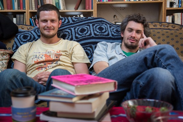 """""""I come here a lot. I am good friends with Andrew. It's a community space to go to."""" Chris Carson, 24 (right), with his friend Aaron Kingon, 24."""