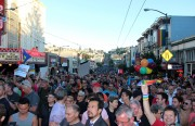 Castro Street was swarmed with people on the Day of Decision.