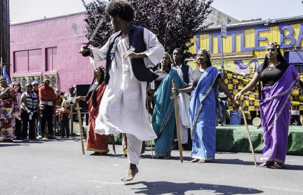 The Shabbal dancers perform a Sudanese sword dance.