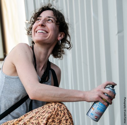 A group of Swiss artists, including Nadia Kouma, came to Festigraff 4.