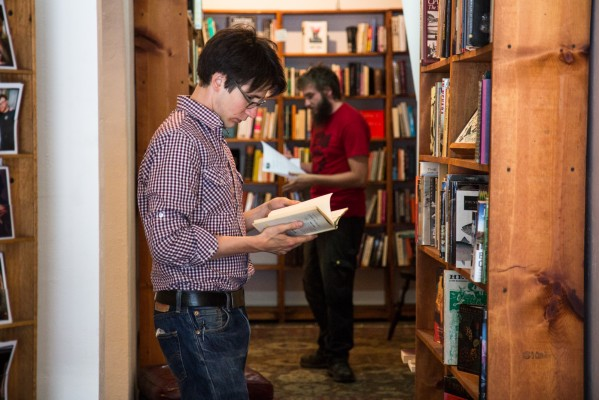 Customers at the new Adobe Books browse through the collection. Photo by Marta Franco