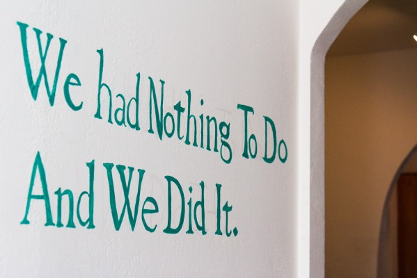 "The bookstore's gallery is hosting an art exhibition called, ""We Had Nothing To Do And We Did It."""