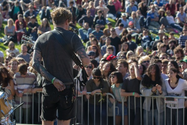 John Dwyer of Thee Oh Sees, in front of the audience.