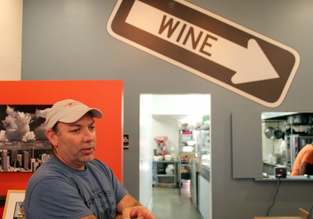 Michael Meadows, owner of La Movida, gives a tour of his wine bar and community kitchen. Photo by Daniel Hirsch.