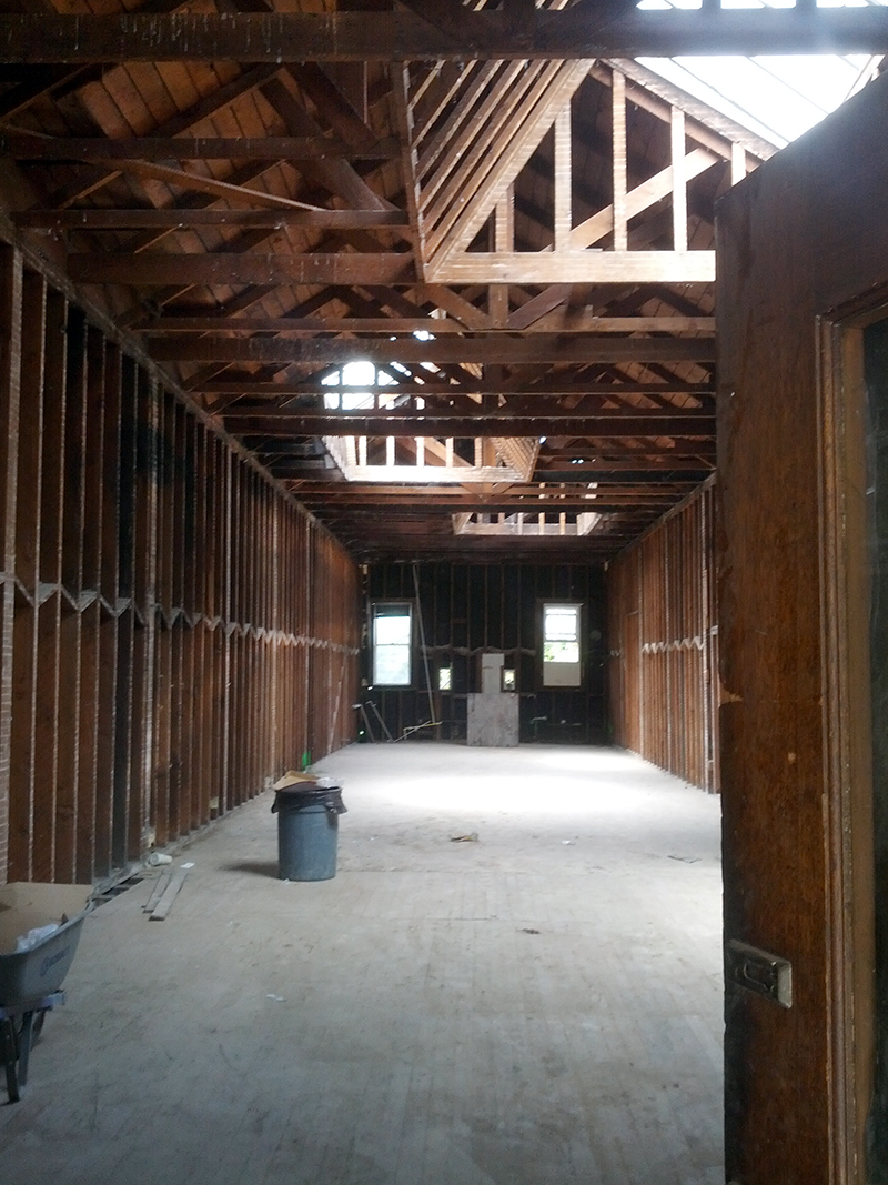 Vacant interior of 3166 16th Street, the possible future home of Jack Spade. Photo by Daniel Hirsch.