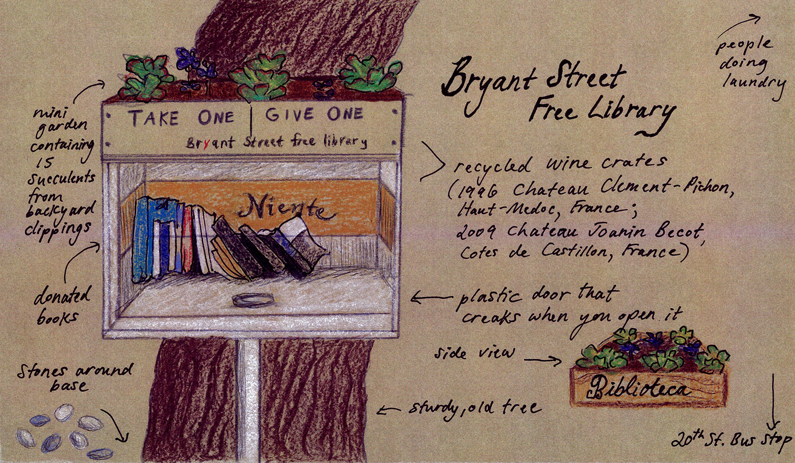 Take One, Give One: A Day at the Bryant Street Free Library