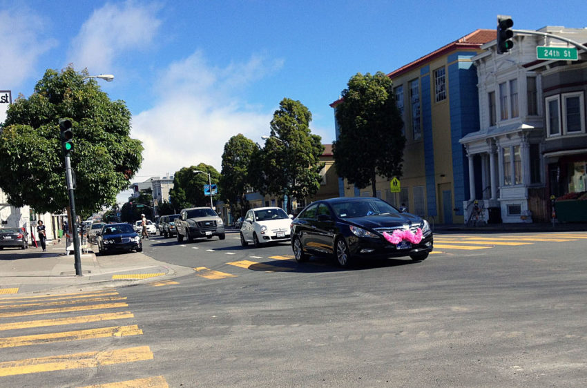 Lyft moving pickups off parts of Valencia Street